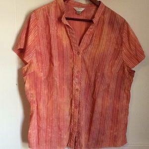 CJ Banks cap sleeve blouse